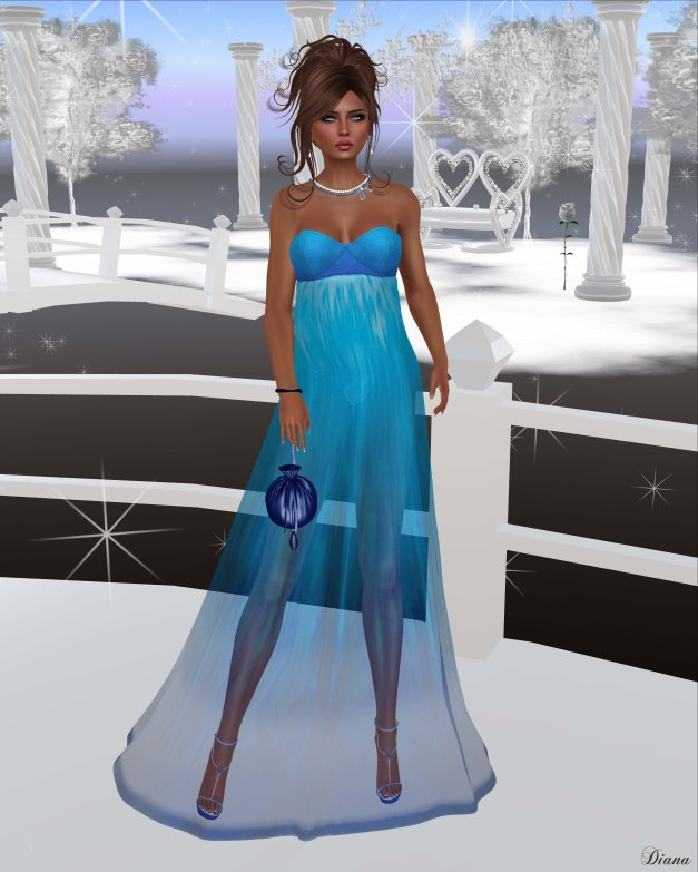 Baiastice - Vania Dress-Ombre Blue