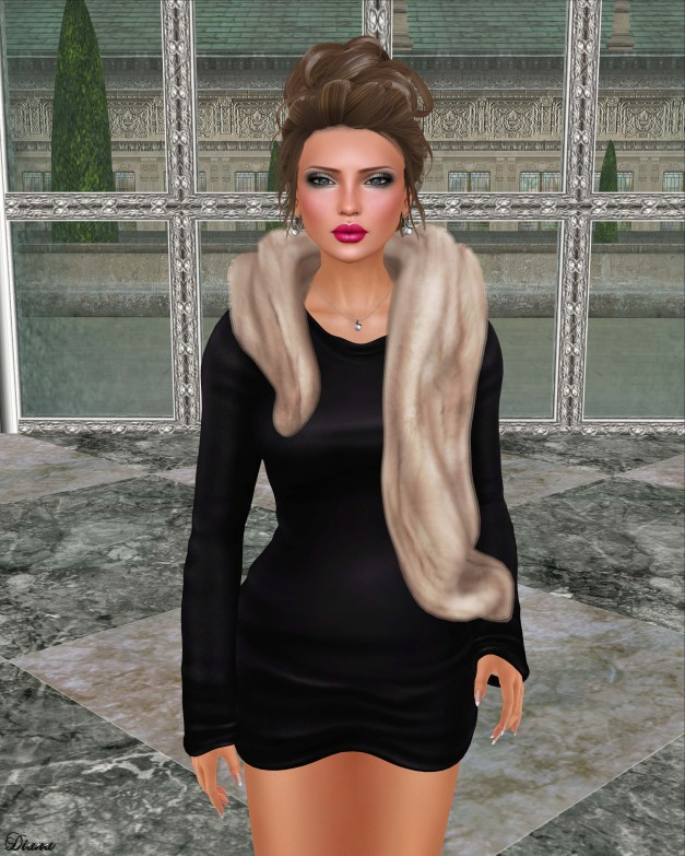 Belleza - Lola and Foxes - Sweater Dress & Fur Stole-1