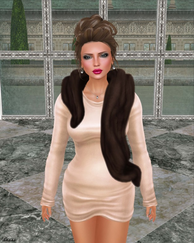 Belleza - Lola and Foxes - Sweater Dress & Fur Stole-2
