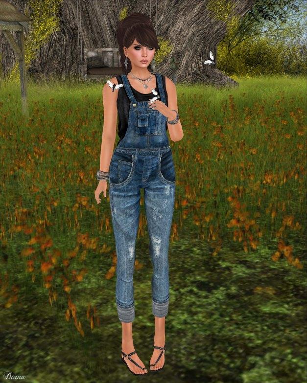 COCO - DenimOverallWithTee Blue-2