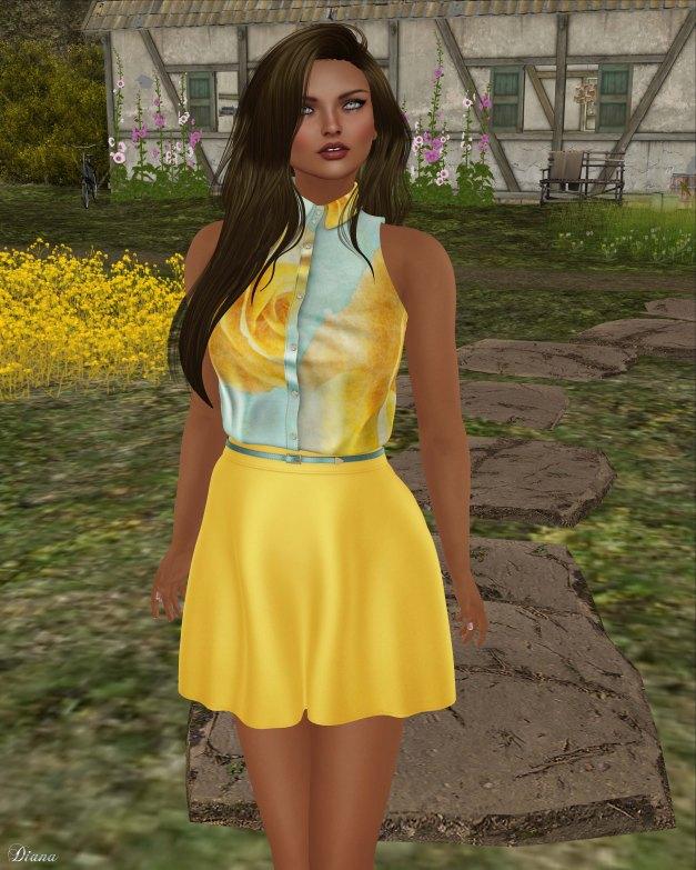GizzA - Sophia Sleeveless Top & Skirt Set and DeLa - Lila