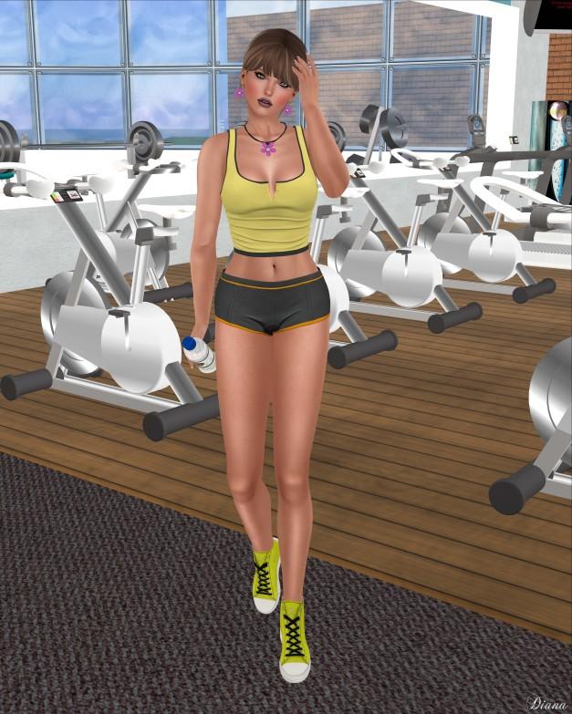 Addams - Ana Tank Top,Short Gym