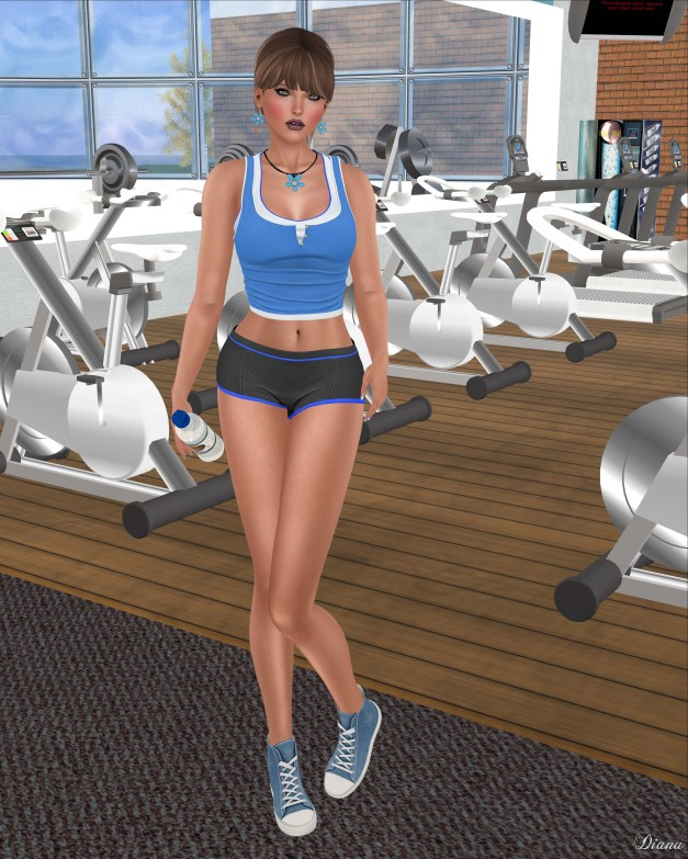 Addams - Ana Tank Top,Short Gym,Top Gym-1