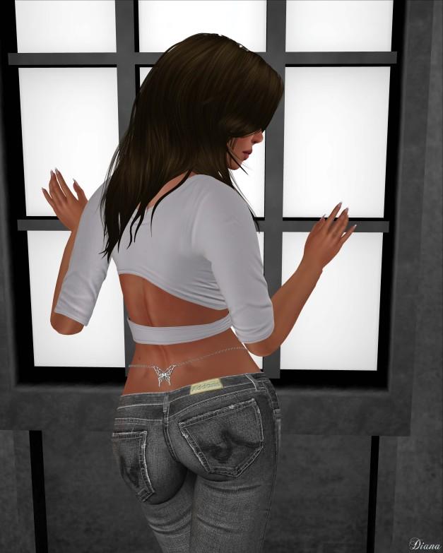Addams - Lixie Ripped Skinny Jean & Chain Belt-3