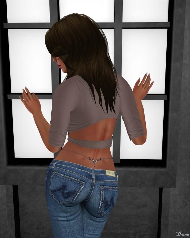 Addams - Lixie Ripped Skinny Jean & Chain Belt-4
