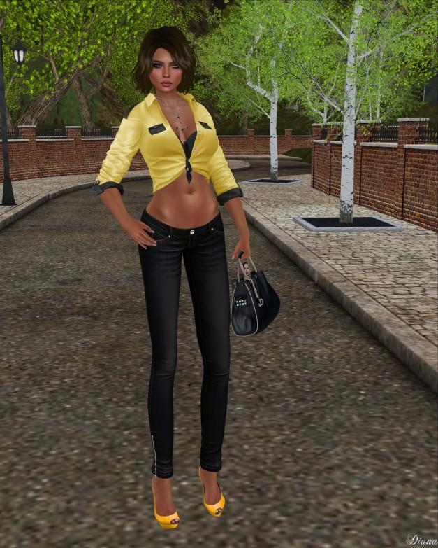 Blueberry - Mia Tight Jeans-1