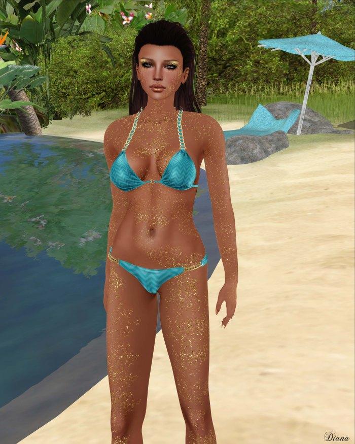 Cynful - Chain Bikini and Izzie's - Body Glitter