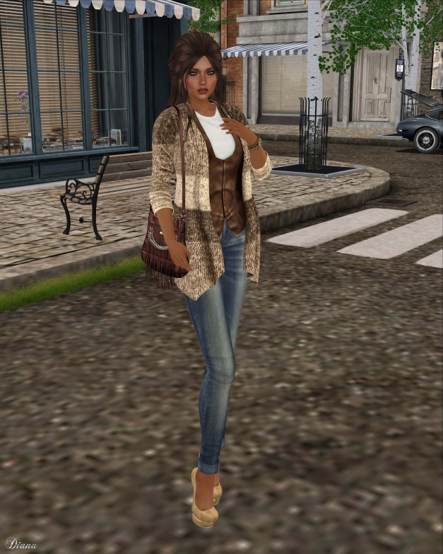 GizzA - Lakua Cardigan Set (Brown Vest)