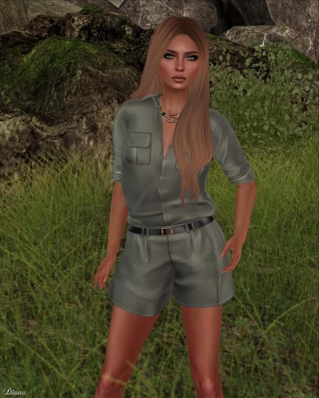 GizzA - Mara Safari Shirt and Mara Belted Shorts