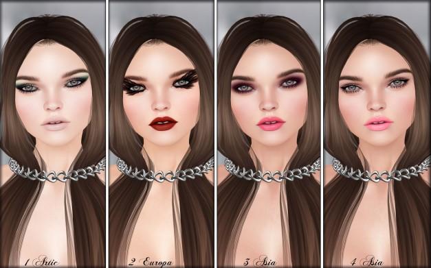 Glam Affair - Lelutka Head Applier Rachel 1-4