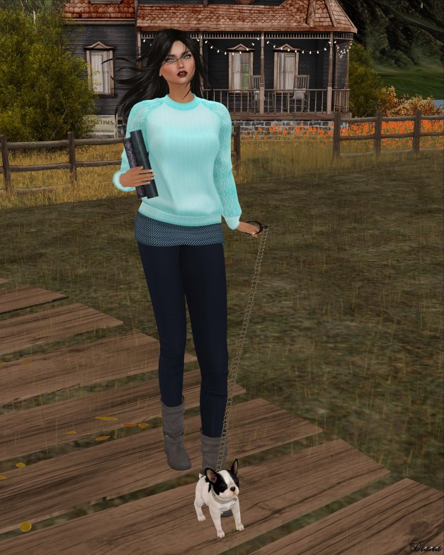 Neve - top campus speckle and Legging zeezee neutral