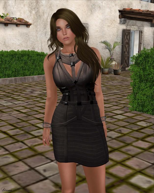 Ricielli - Cereza Bandage Dress Chumbo