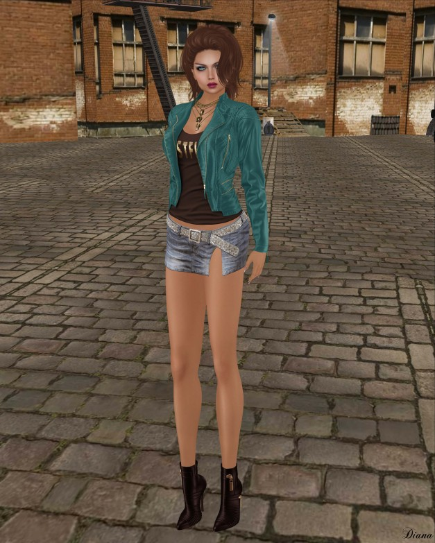 Blueberry - Asia Leather Jacket and Harlow Skirt-2