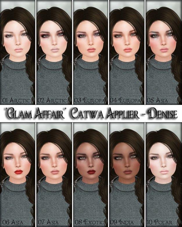 Glam Affair - Catwa Applier - Denise America 01-10
