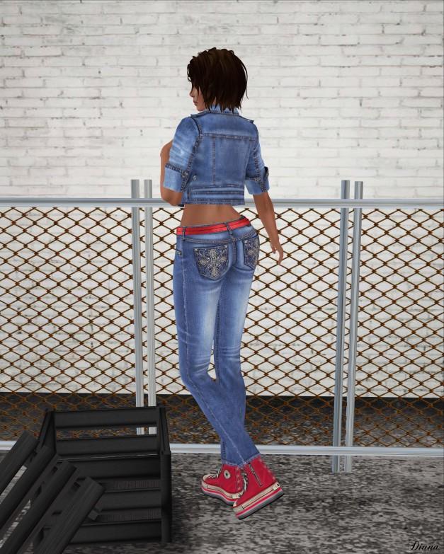 Lapointe & Bastchild - Swear Double Belt Denim Jeans-2