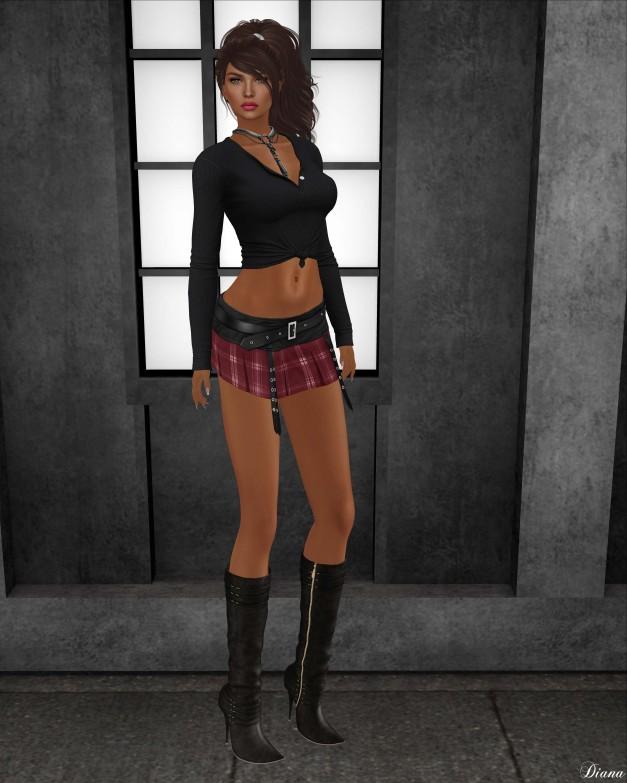 Blueberry - Kyla Mini Skirt-1
