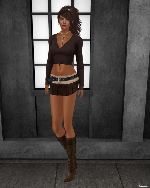 Blueberry - Kyla Mini Skirt-2