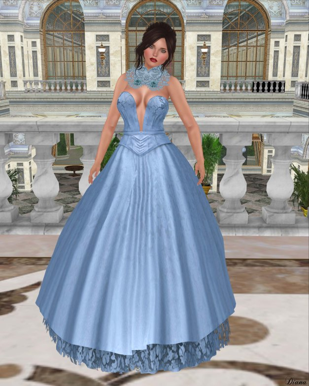 Baiastice - Nayla Dress-Azure
