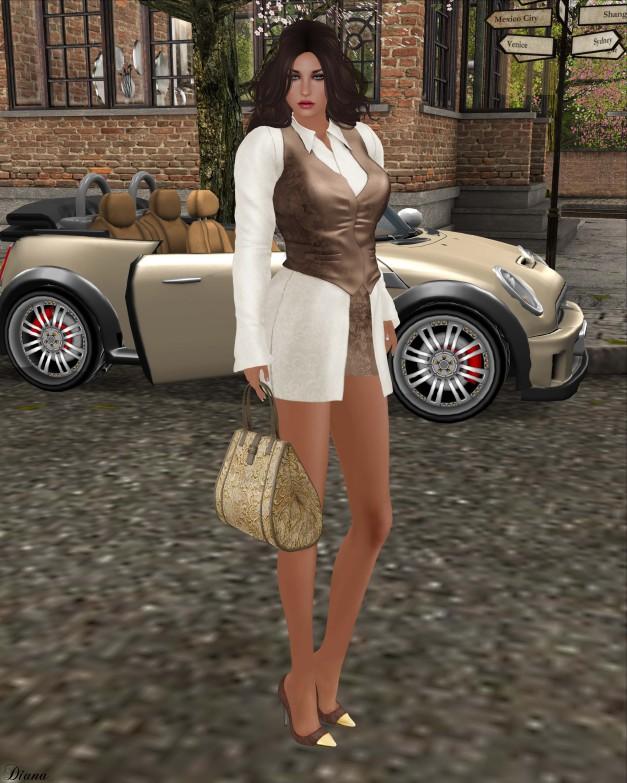 Baiastice - Myria outfit combo and Lace Handbag