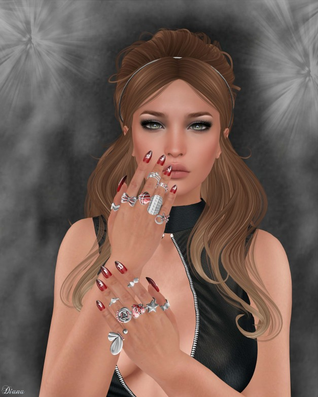 RE - Precious Nails & Rings - Pointy
