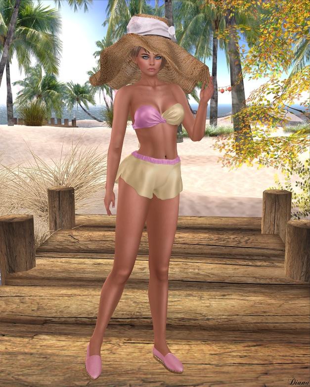 Baiastice - Seae Swimsuit-PinkGold