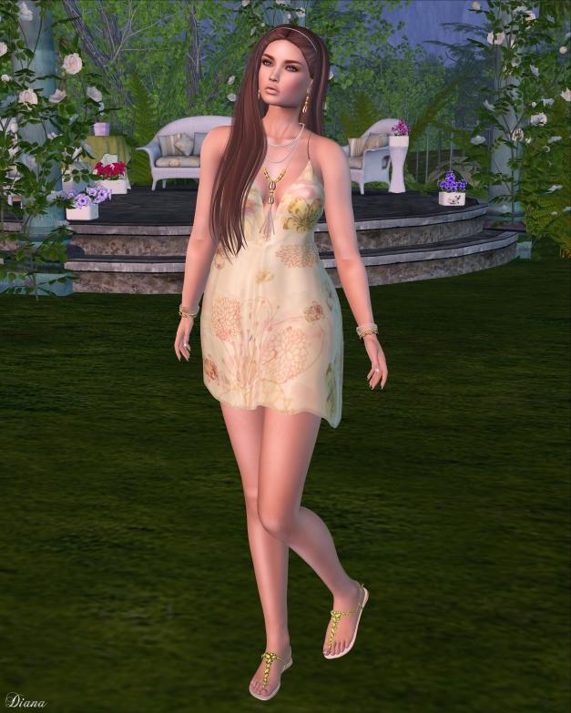 Baiastice - Bib Tank Dress-Yellow