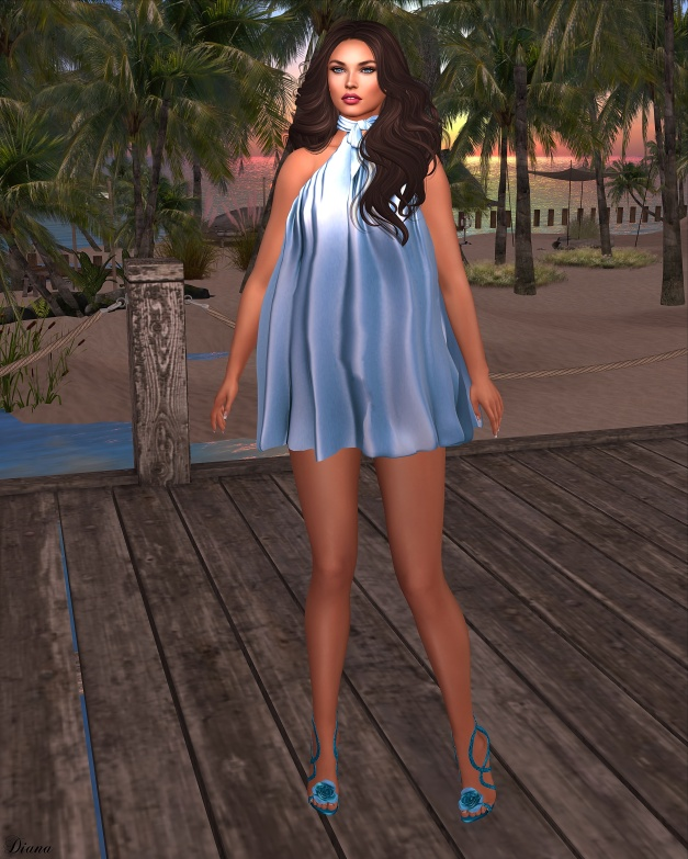 Baiastice - Blair Dress-Silk Azure