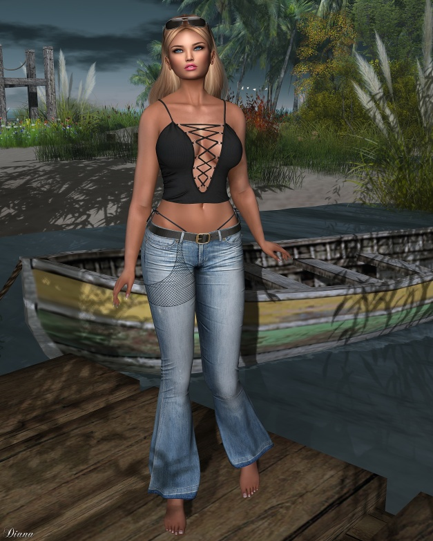 addams-rebecca-bodysuit-and-flora-flare-jeans